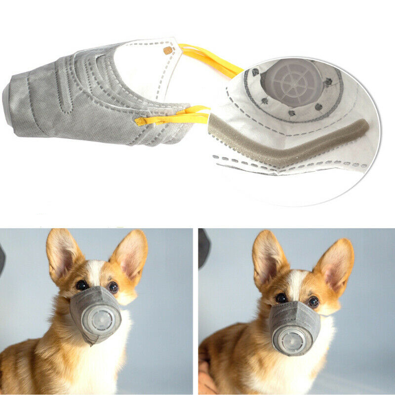 3pcs Reusable Dog Muzzles PM2.5 Filter Anti Dust Anti Smog Pet Mask Safe Healthy