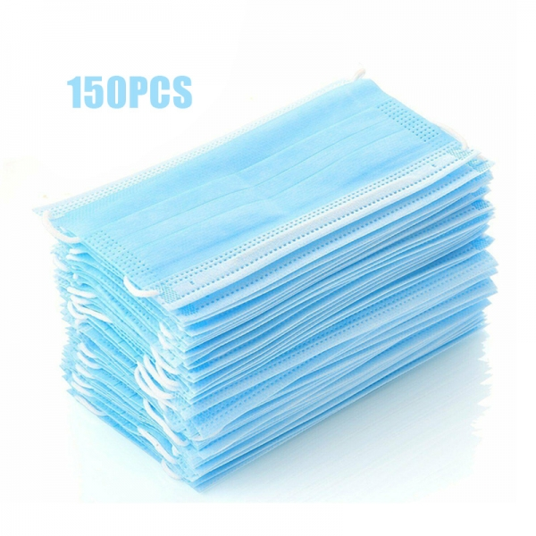 50/100pcs 3-Ply Ear Loop Disposable Surgical Face Dust Mask Anti-Flu