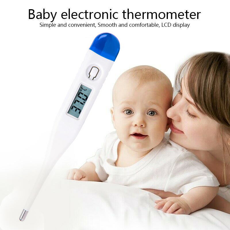 Home LCD Digital Electronic Thermometer Baby Adult Body Oral Temperature Meter