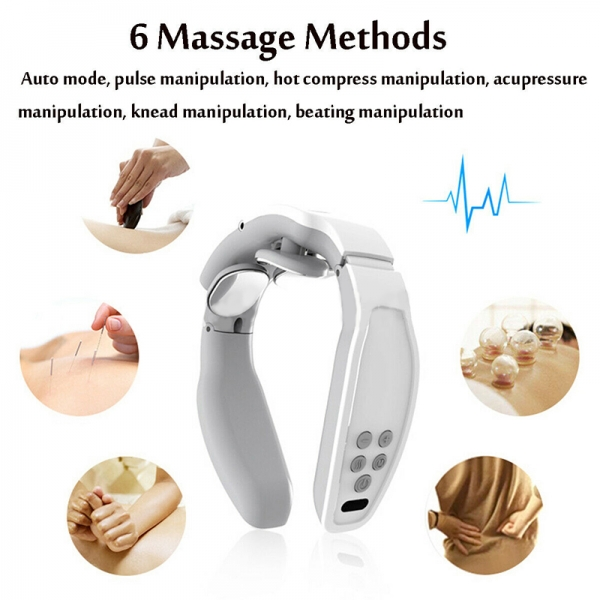 Electric Neck Cervical Massager Magnetic Pulse Wireless Rechargeable