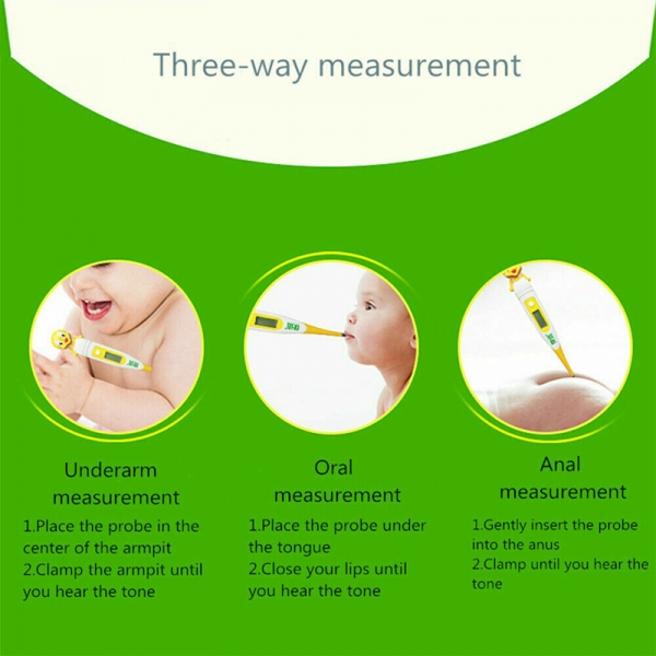 Digital LCD Thermometer Medical Oral Baby Ear Adult Body Safe Temperature
