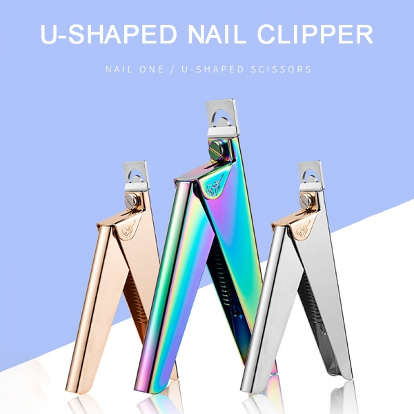 Stainless Steel False Nail Art Edge Clipper Manicure Tips Cutter Tool