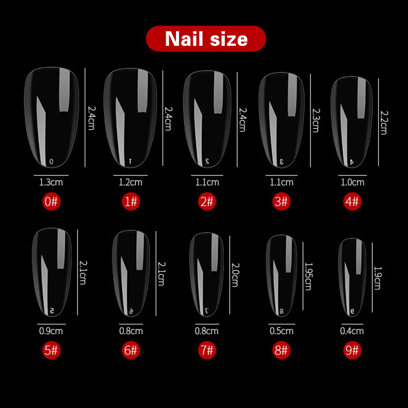 240Pcs/Box Dual Nail Art System Form UV Gel Acrylic Clear False Tips