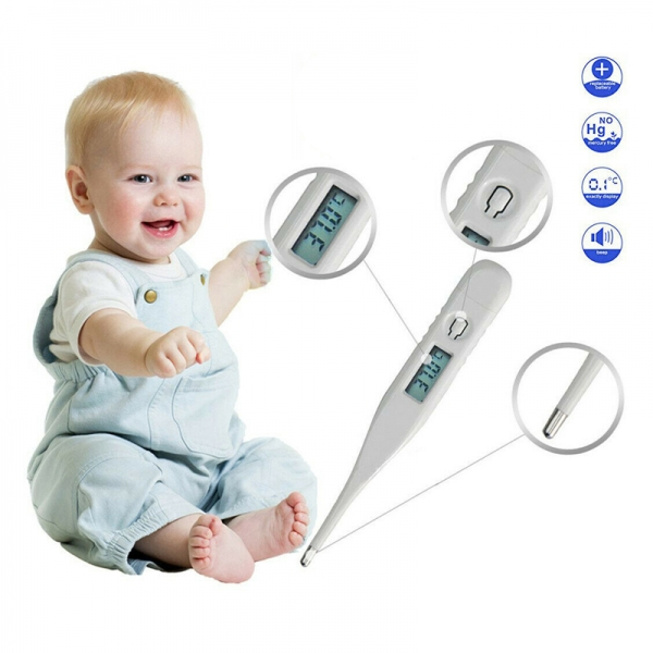 Digital LCD Thermometer Baby Adult Body Ear Temperature Test Water Thermometer