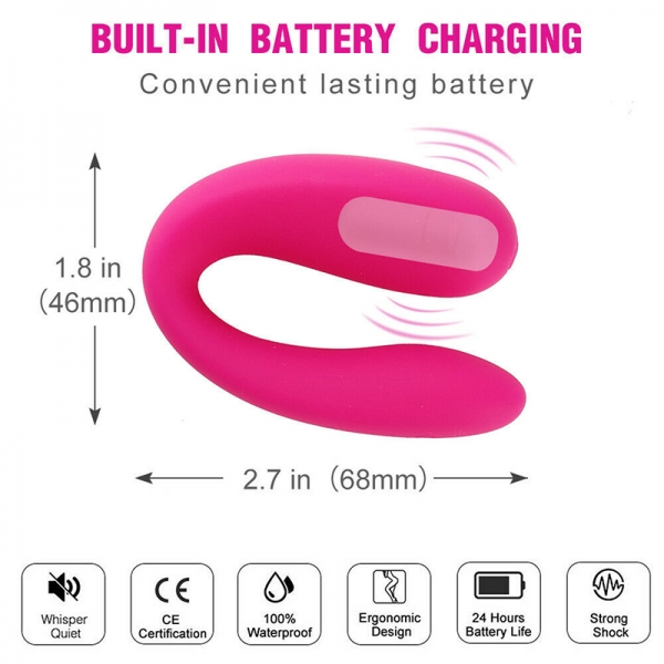 Wireless Double Vibrator Bullet Egg Anal Plug Couples Adult Sex toys
