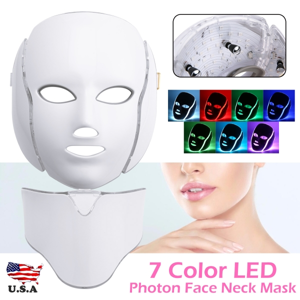 7 Colors LED Light Photon Face Mask Rejuvenation Skin Therapy Anti ageing New