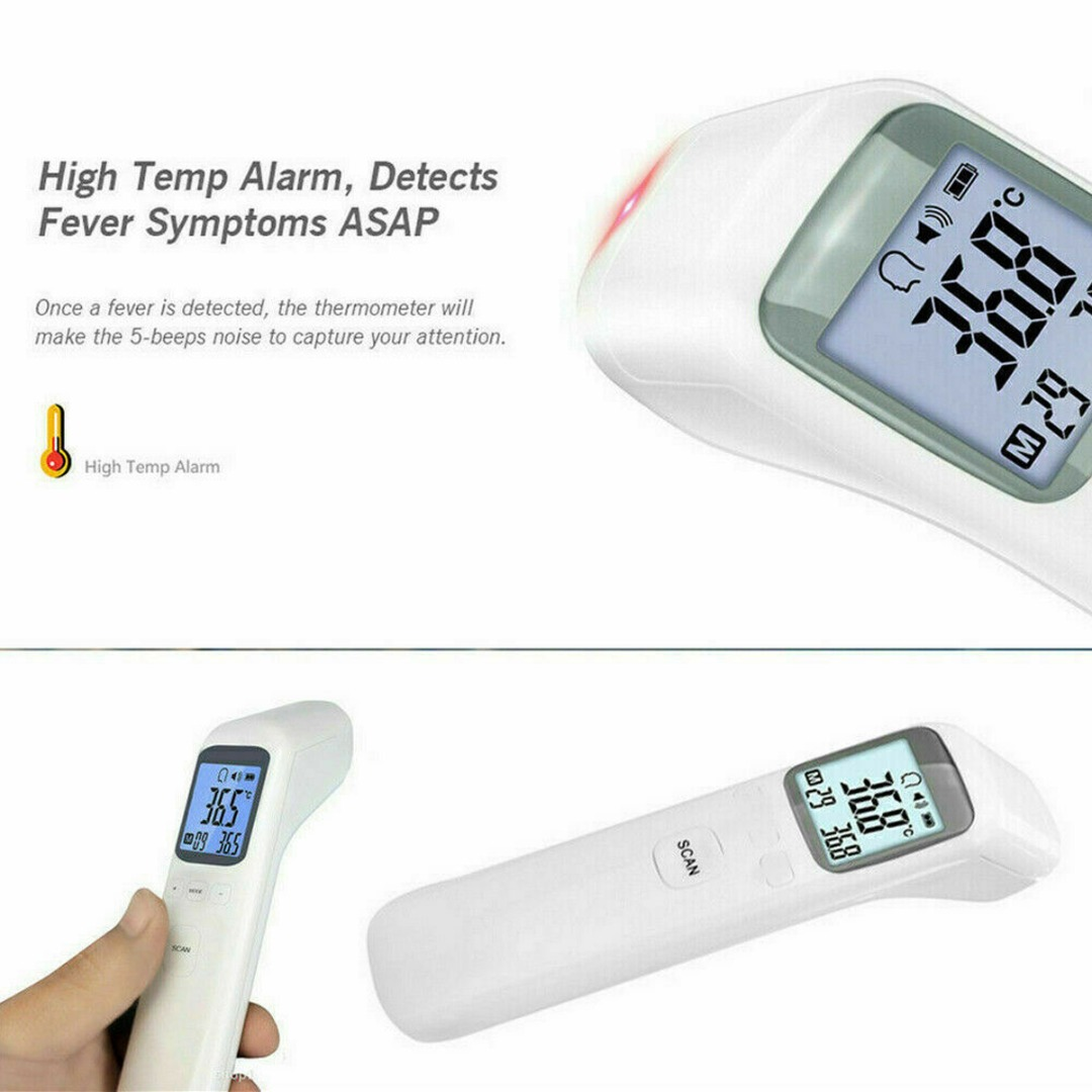 LCD Digital Infrared Forehead Thermometer Baby Adult Non-touch Ear Thermometer