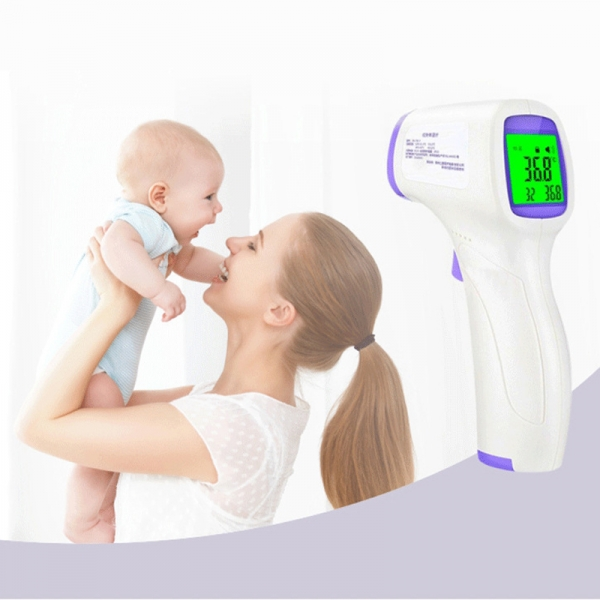 1pc New Digital Infrared Baby Adult Forehead Non-touch Thermometer LCD Backlight