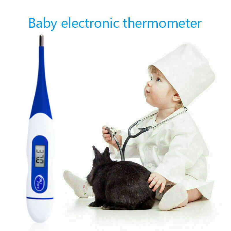 New LCD Digital Thermometer Medical Baby Adult Body Oral Electronic Thermometer