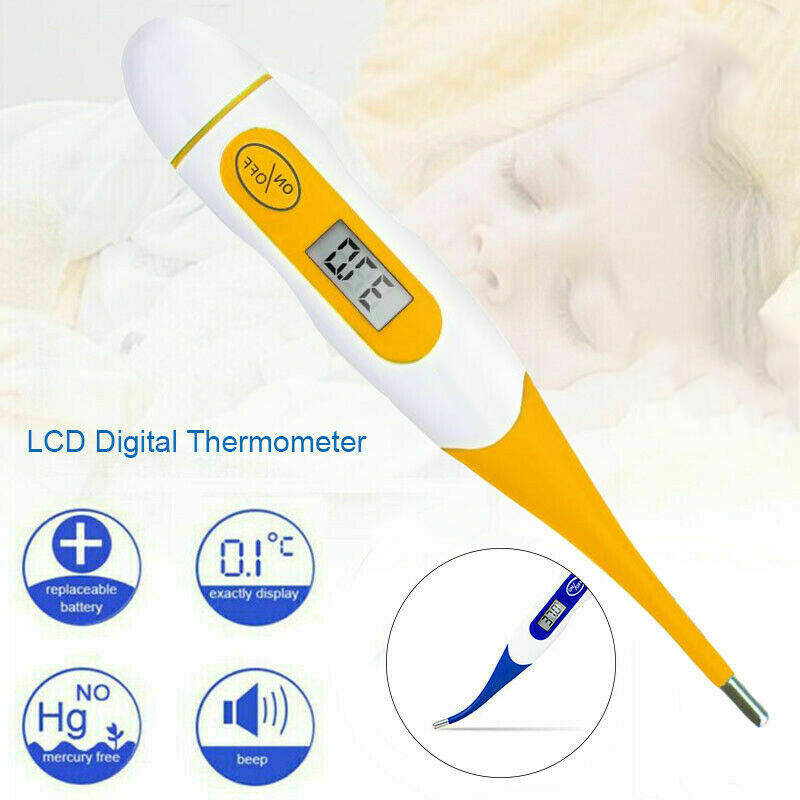 Digital LCD Baby Thermometer Medical Adult Body Safe Oral Electronic Thermometer